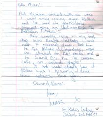 Laura's Letter